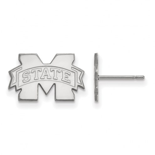 Mississippi State Bulldogs Sterling Silver Extra Small Post Earrings