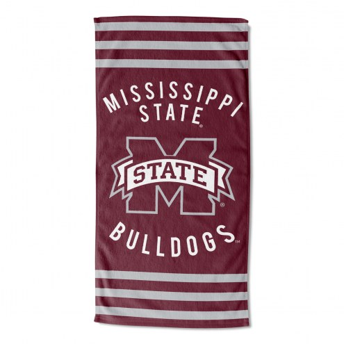 Mississippi State Bulldogs Stripes Beach Towel