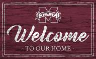 Mississippi State Bulldogs Team Color Welcome Sign