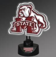 Mississippi State Bulldogs Team Logo Neon Lamp
