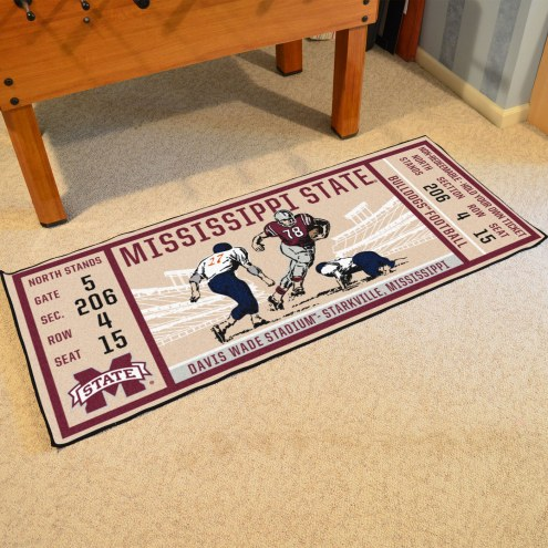Mississippi State Bulldogs Ticket Runner Rug