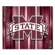 Mississippi State Bulldogs Triptych Rush Canvas Wall Art