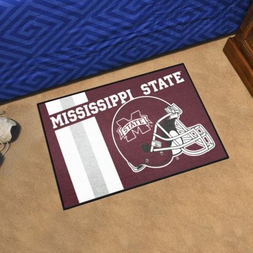 Mississippi State Bulldogs Uniform Inspired Starter Rug