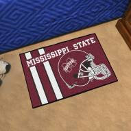 Mississippi State Bulldogs Uniform Inspired Starter Rug