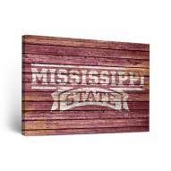 Mississippi State Bulldogs Weathered Canvas Wall Art
