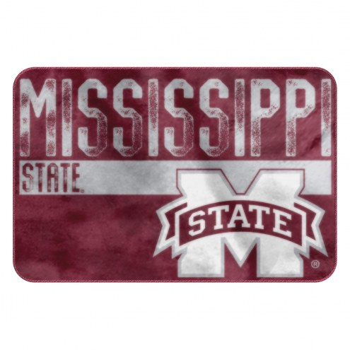Mississippi State Bulldogs Worn Out Bath Mat