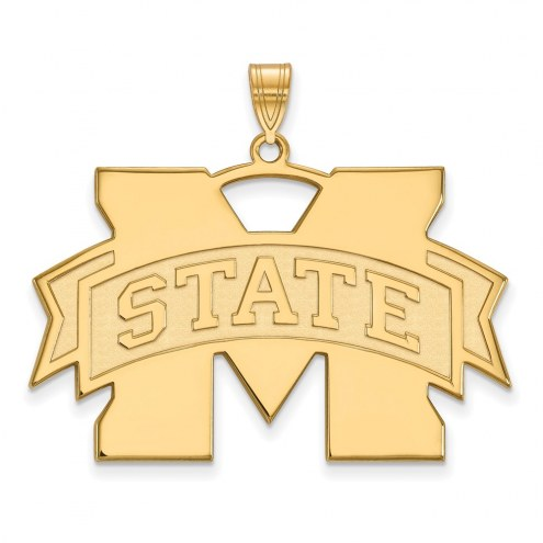 Mississippi State Bulldogs NCAA Sterling Silver Gold Plated Extra Large Pendant
