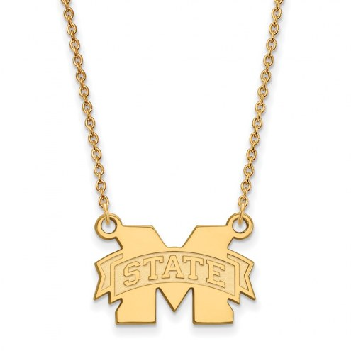 Mississippi State Bulldogs NCAA Sterling Silver Gold Plated Small Pendant Necklace