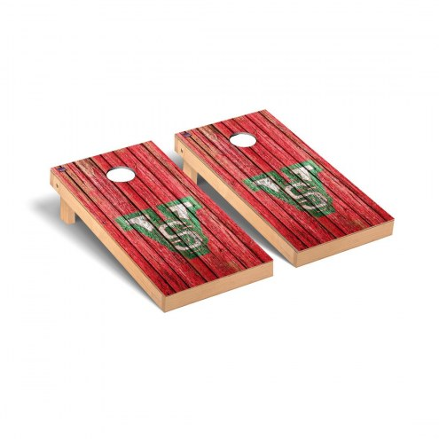 Mississippi Valley State Delta Devils Weathered Cornhole Game Set