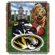 Missouri Missou Tigers NCAA Woven Tapestry Throw / Blanket