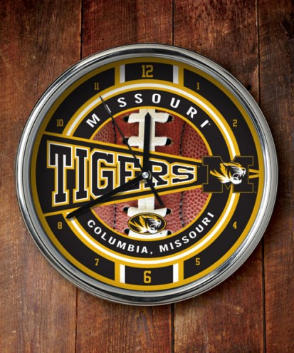 Missouri Mizzou Tigers NCAA Chrome Wall Clock
