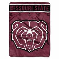 Missouri State Bears Basic Plush Raschel Blanket