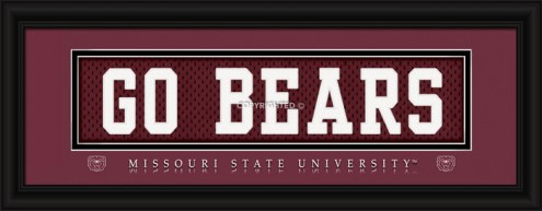 "Missouri State Bears ""Go Bears"" Stitched Jersey Framed Print"