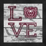 Missouri State Bears Love My Team Square Wall Decor