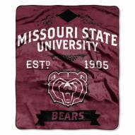 Missouri State Bears Label Raschel Throw Blanket