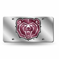 Missouri State Bears Silver Laser License Plate