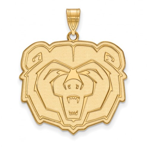 Missouri State Bears Sterling Silver Gold Plated Extra Large Pendant