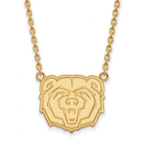 Missouri State Bears Sterling Silver Gold Plated Large Pendant Necklace