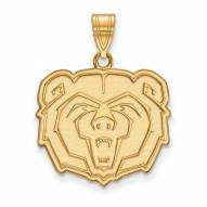Missouri State Bears Sterling Silver Gold Plated Large Pendant