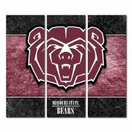 Missouri State Bears Triptych Double Border Canvas Wall Art