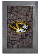"Missouri Tigers 11"" x 19"" City Map Framed Sign"