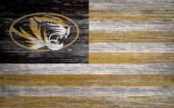 """Missouri Tigers 11"""" x 19"""" Distressed Flag Sign"""