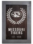 "Missouri Tigers 11"" x 19"" Laurel Wreath Framed Sign"