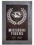 "Missouri Tigers 11"" x 19"" Laurel Wreath Framed Sign"