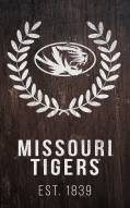 "Missouri Tigers 11"" x 19"" Laurel Wreath Sign"