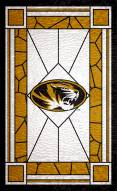 """Missouri Tigers 11"""" x 19"""" Stained Glass Sign"""