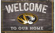 """Missouri Tigers 11"""" x 19"""" Welcome to Our Home Sign"""