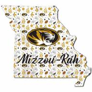 """Missouri Tigers 12"""" Floral State Sign"""