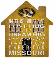 "Missouri Tigers 12"" House Sign"