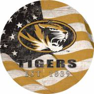 "Missouri Tigers 12"" Team Color Flag Circle Sign"
