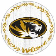 """Missouri Tigers 12"""" Welcome Circle Sign"""