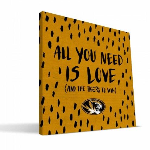 "Missouri Tigers 12"" x 12"" All You Need Canvas Print"