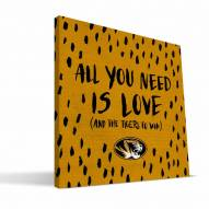 "Missouri Tigers 12"" x 12"" All You Need Canvas Print"