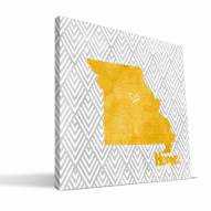 "Missouri Tigers 12"" x 12"" Home Canvas Print"