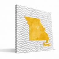 """Missouri Tigers 12"""" x 12"""" Home Canvas Print"""
