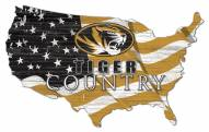 "Missouri Tigers 15"" USA Flag Cutout Sign"