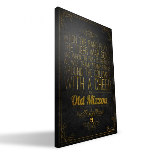 "Missouri Tigers 16"" x 24"" Song Canvas Print"