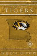 "Missouri Tigers 17"" x 26"" Coordinates Sign"