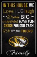 """Missouri Tigers 17"""" x 26"""" In This House Sign"""