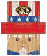 """Missouri Tigers 19"""" x 16"""" Patriotic Head"""