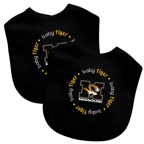Missouri Tigers 2-Pack Baby Bibs