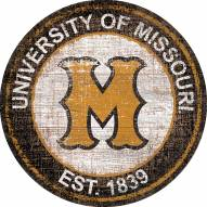 "Missouri Tigers 24"" Heritage Logo Round Sign"