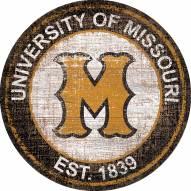 "Missouri Tigers 24"" Heritage Logo Round Sign"
