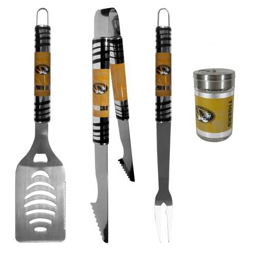 Missouri Tigers 3 Piece Tailgater BBQ Set and Season Shaker
