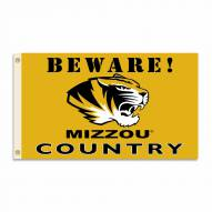 Missouri Tigers 3' x 5' Beware Flag