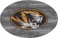 """Missouri Tigers 46"""" Distressed Wood Oval Sign"""